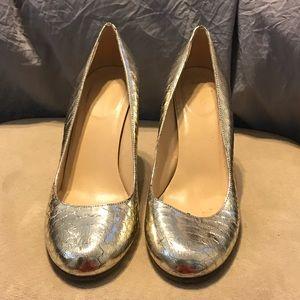 Kate Spade New York Silver Metallic Heels